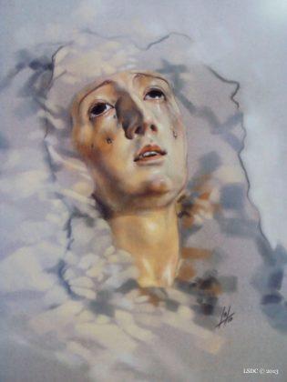 Nuestra Señora del Mayor Dolor por la artista plástica Inma Peña