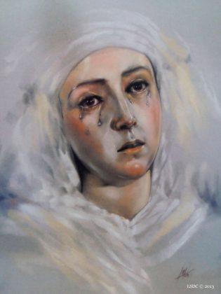 María Santísima de Las Aguas por la artista plástica Inma Peña