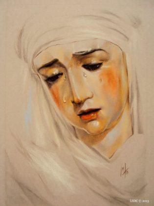 Nuestra Señora de la Piedad por la artista plástica Inma Peña