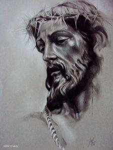 Stmo. Cristo de la Coronación de espinas por la artista plástica Inma Peña