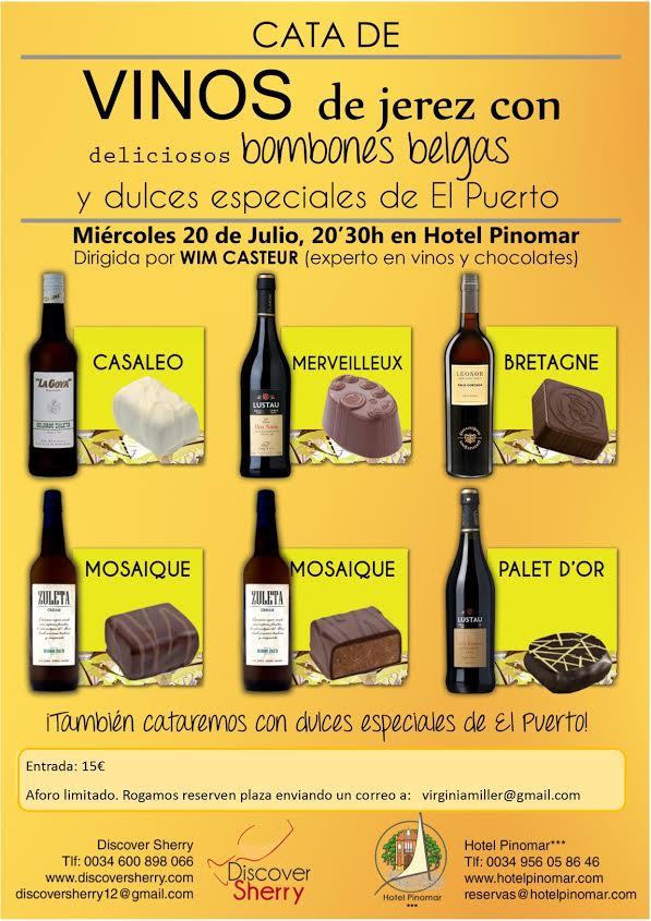 Discover Sherry Cata de Vinos con Chocolate