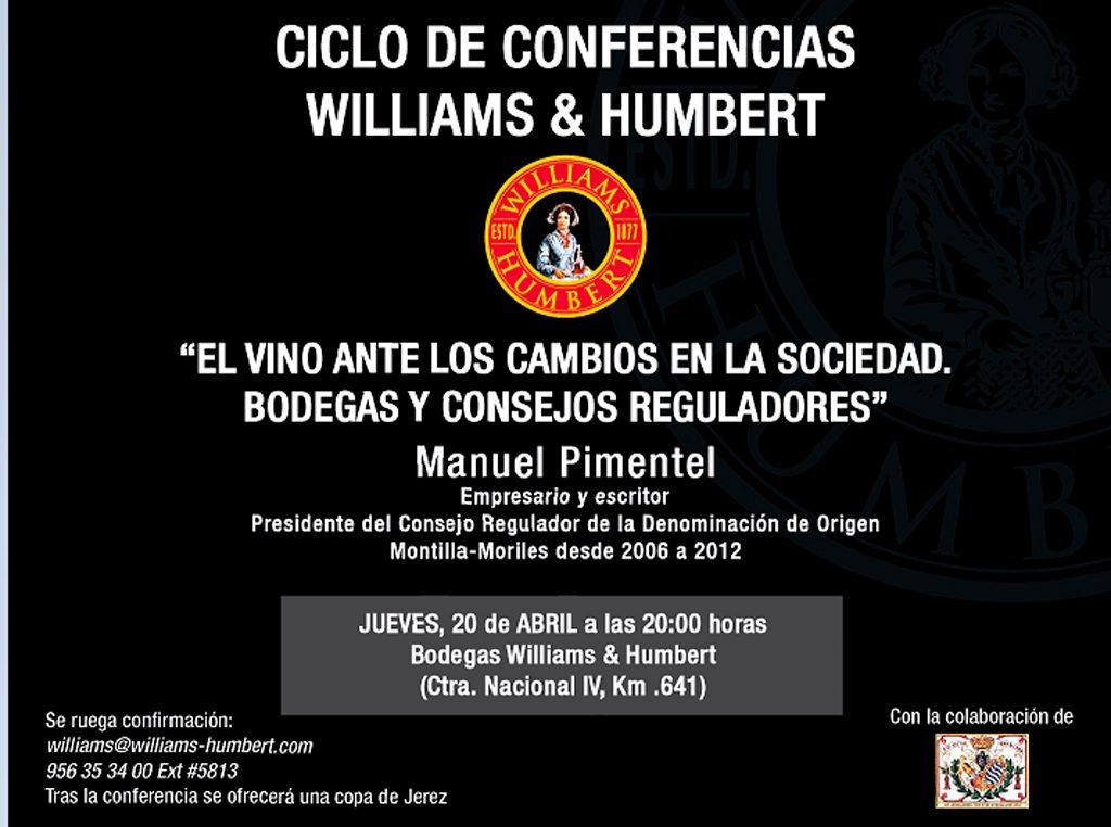 Manuel Pimentel Siles Ciclo de Conferencias Williams & Humbert