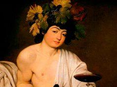 Dios Baco, Caravaggio (1595). Galería Uffizi, Florencia.