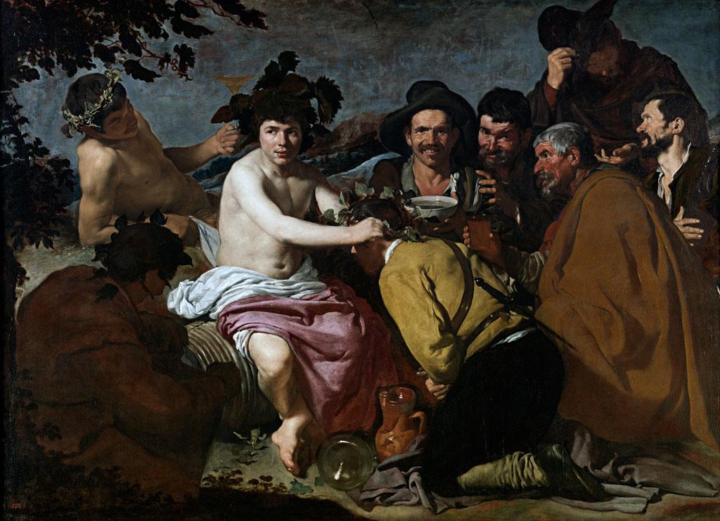 El Triunfo de Baco, Diego Velázquez (1628-1629). Museo del Prado, Madrid.