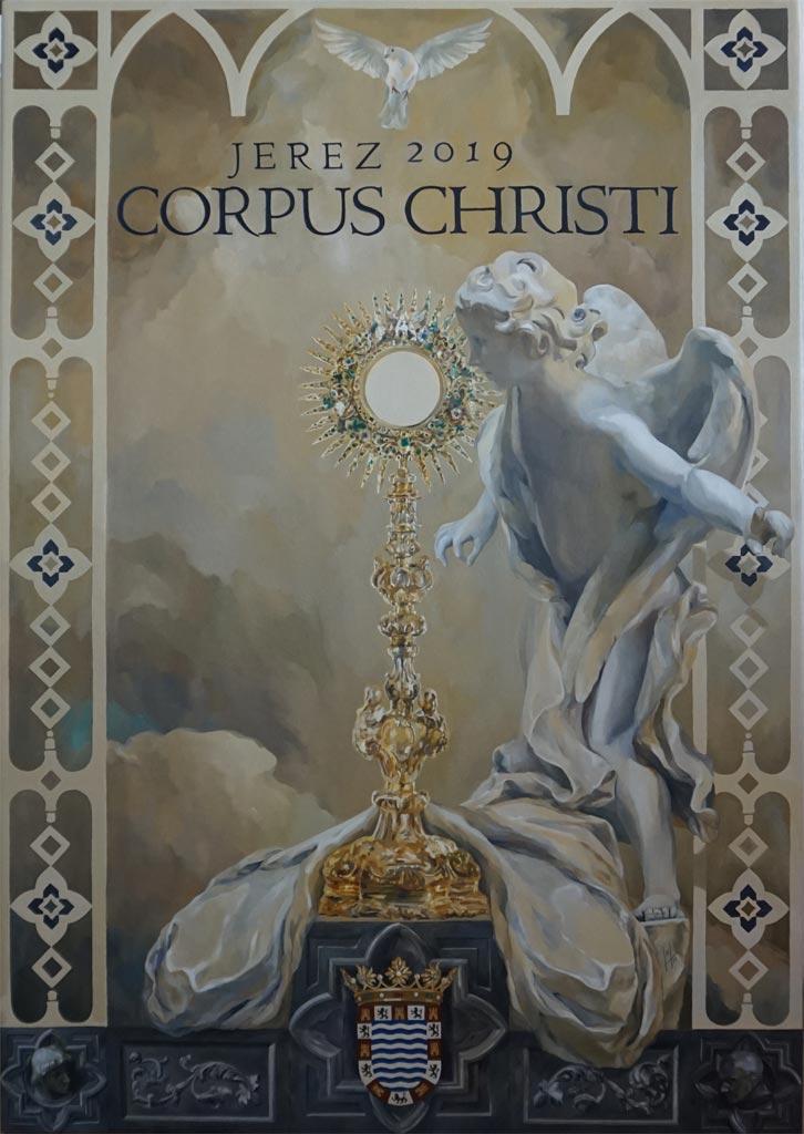 Cartel del Corpus Christi de Jerez 2019 por la artista plástica Inma Peña