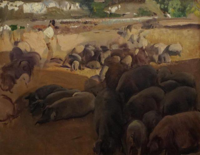 La Piara (estudio para Extremadura) por Joaquín Sorolla