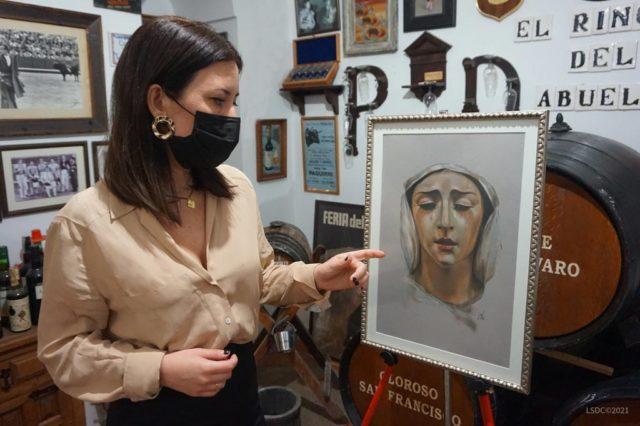 La artista plástica Inma Peña explica su obra