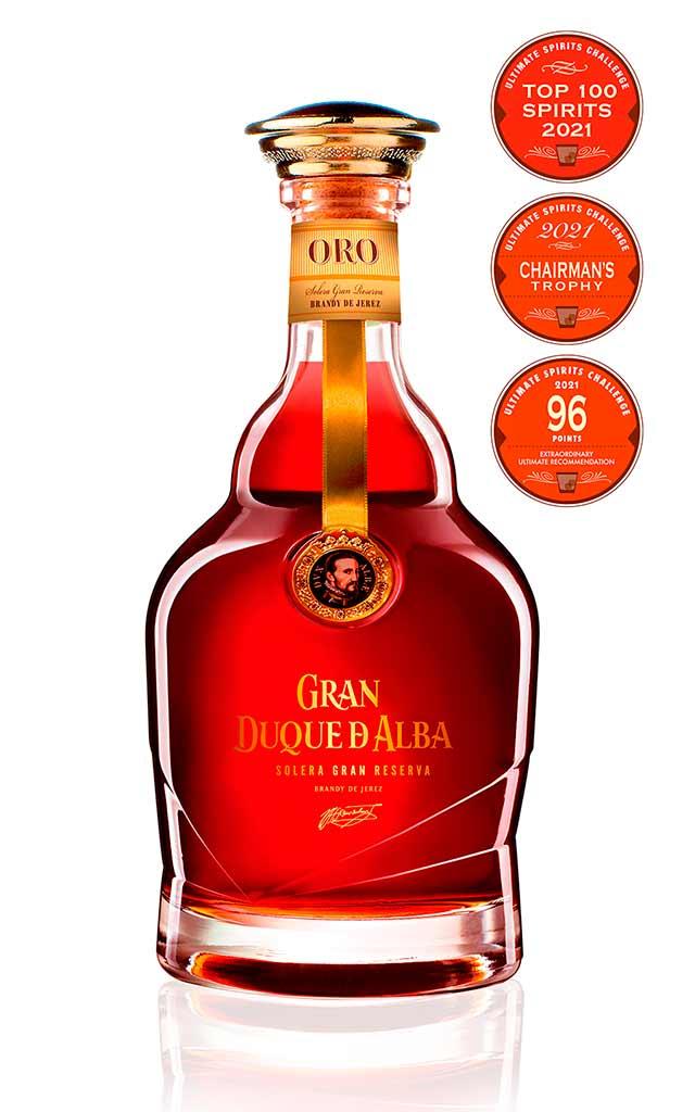 Brandy Gran Duque de Alba Oro, en el top 100 de los mejores espirituosos del mundo