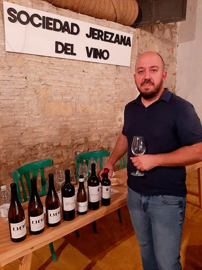 Ramiro Ibáñez en La Sociedad Jerezana del Vino
